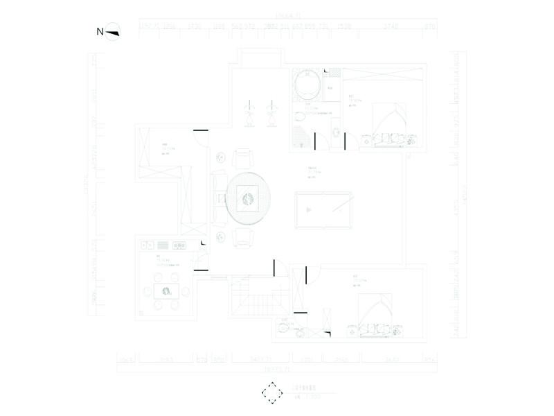 杭州旭辉御府408㎡欧式风格装修平面图