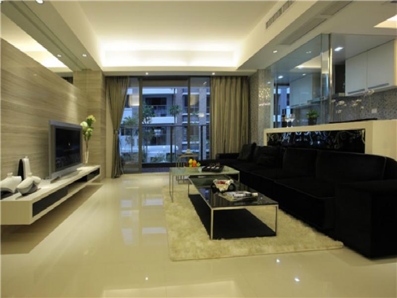 杭州天华美地105㎡现代简约风格装修设计效果图——客厅装修设计