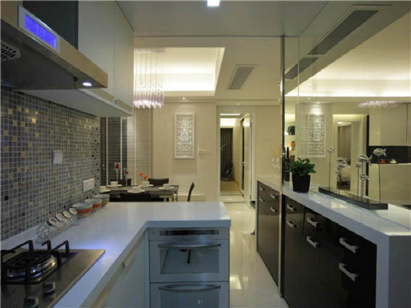 天华美地105㎡现代简约风格装修设计效果图——厨房装修设计