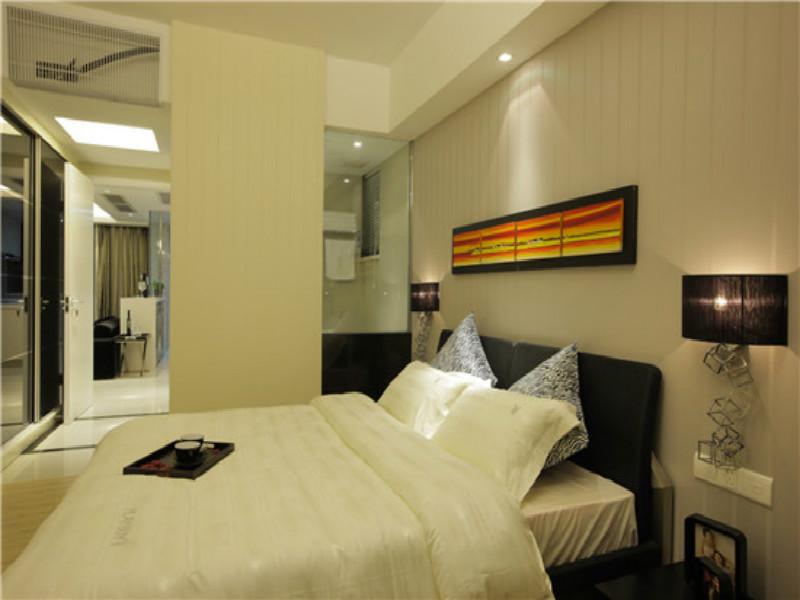杭州天华美地105㎡现代简约风格装修设计效果图——卧室装修设计