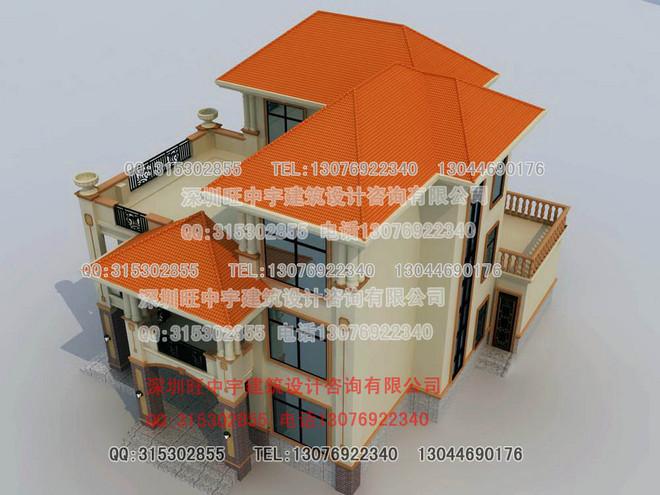 复式三层带车库露台别墅全套施工图纸三层别墅设计