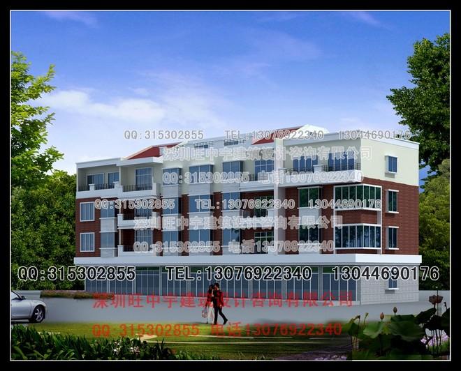 四层联排新农村别墅自建房设计